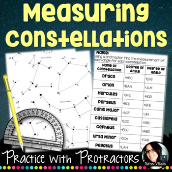 Measuring Angles Using a Protractor Constellation Activity Grades 4-5 4.MD.6