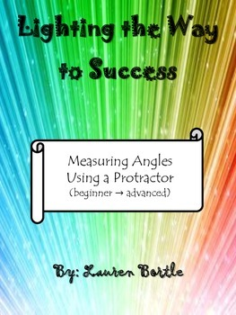 Measuring Angles Using a Protractor - black and white worksheets & task cards