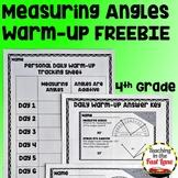 Measuring Angles Warm-Ups FREEBIE