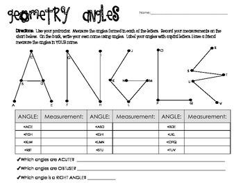 Measuring Angles of ANGLE