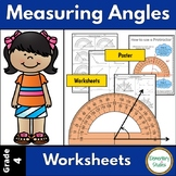 Measuring Angles with a protractor Worksheets