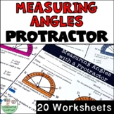 Measuring Angles with a Protractor Worksheets No Prep Prin