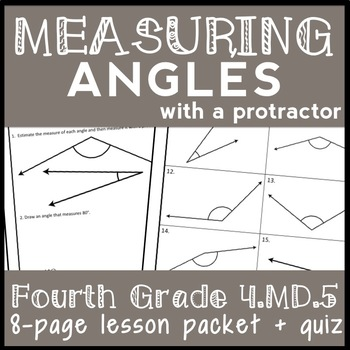 Measuring Angles with a Protractor, 4th Grade Measuring & Drawing Angles Lesson