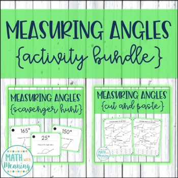 Measuring Angles with a Protractor Activity Mini-Bundle
