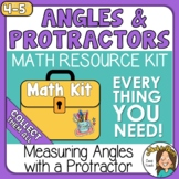Measuring Angles with a Protractor Angles Math Kit Set 2