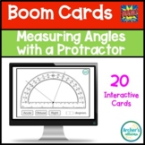 Measuring Angles with a Protractor Digital Boom Cards