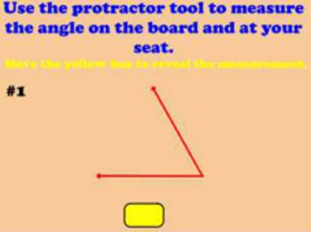 Measuring Angles with a Protractor Flipchart