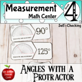 Measuring Angles with a Protractor Math Center Activity