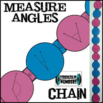 Measuring Angles with a Protractor Paper Chain for Display