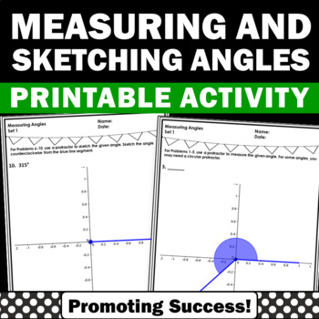 Measuring Angles With A Protractor Worksheets Angle Turns 4c6