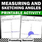 measuring angles with a protractor worksheet teaching resources teachers pay teachers. Black Bedroom Furniture Sets. Home Design Ideas
