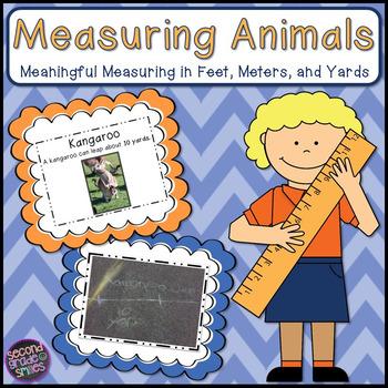 Measuring Animals Outdoor Measurement Fun! (Feet, Meters, Yards)