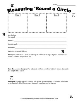 Measuring Arc Length - Guided Notes