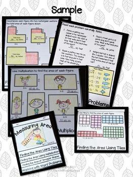 Measuring Area Interactive Flipbook- Common Core 3rd Grade- Assessment/Activity