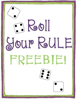 Roll Your Rule {Creating Numerical Patterns} FREEBIE