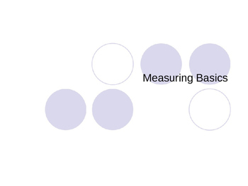 Measuring Basics