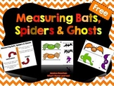 Measuring Bats, Spiders & Ghosts {Halloween Freebie}