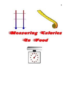 Measuring Calories in Food