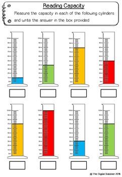 Measuring Capacity – 15+ printables (Measurement & Data)