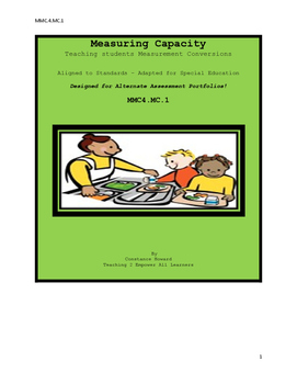 Measuring Capacity Aligned to Standards Adapted for Special Education