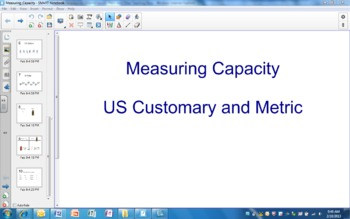 Measuring Capacity SmartBoard Lesson