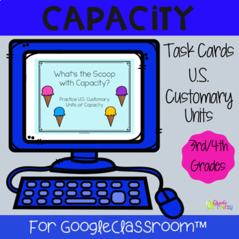 Measuring Capacity Task Cards Distance Learning