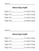 Measuring Center- Measuring lengths of tape!