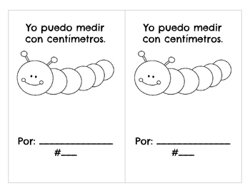 Measuring Centimeters and Inches Book Libro de medir con centímetros y pulgadas
