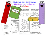 Measuring Centimeters and Inches Book Libro de medir con c