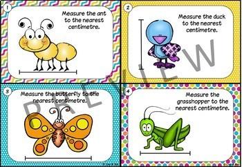 Measuring Centimetres - 24 Tasks Cards