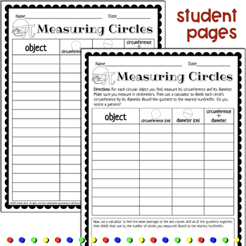 Measuring Circles and Finding Pi: Circumference and Diameter Inquiry Activity