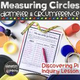 Measuring Circle Circumference & Diameter to Discover Pi -