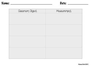 Measuring Classroom Items