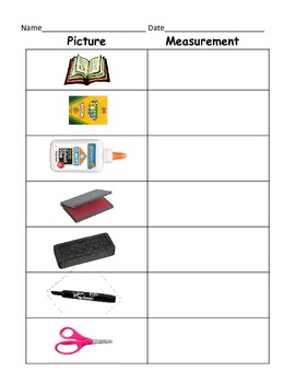 Measuring Classroom Items (Kindergarten, First Grade, Second Grade)