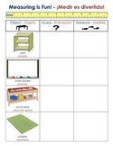 Measuring Classroom Objects Form (English/Spanish)