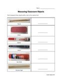 Measuring Classroom Objects Worksheet Freebie