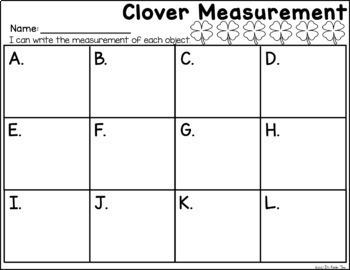 Measuring Clovers - Nonstandard Measurement Practice