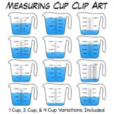 Measuring Cup Clip Art   Measuring Volume