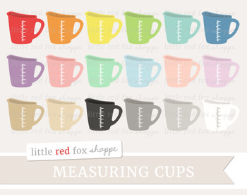 Measuring Cup Clipart; Kitchen, Baking, Cooking