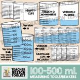 Measuring Cups / Beakers in mL (100-500mL)