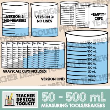 Measuring Cups / Beakers in mL (50-500mL)
