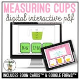 Measuring Cups Digital Interactive Task Card Activities Cooking