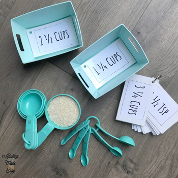 Measuring Cups Flashcards Work Task Box Life Skills Cooking Kitchen