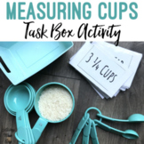 Measuring Cups Flashcards Task Bin Activity