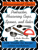 Measuring Cups, Spoons, Ruler, printables, Fractions center, protractor