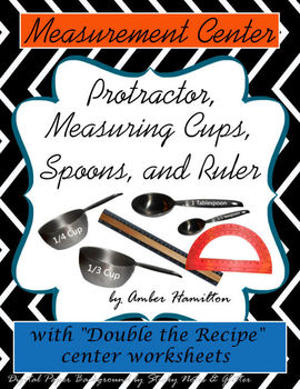 Measuring Cups Spoons Ruler Printables Fractions Center Protractor
