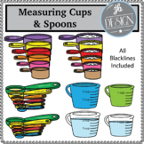 Measuring Cups & Spoons (JB Design Clip Art for Personal or Commercial Use)