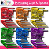 Measuring Cups and Spoons Clip Art {Measurement Tools for