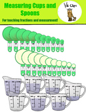 Measuring Cups and Spoons Clip art {Fractions and Measurem