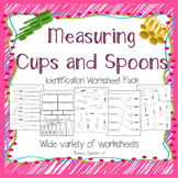 Measuring Cups and Spoons Identification Worksheets - Special Education